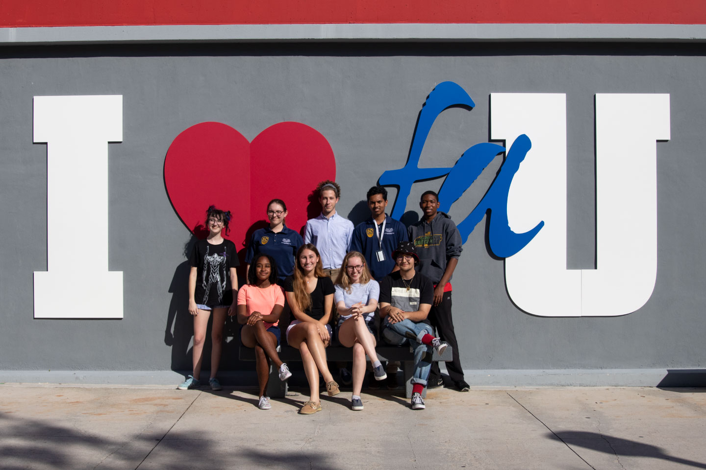 From left to right, Delaney Dobson, Noa Abiri, Eli Levit, Ajay Desai, Rudy Paul, Cydni Turner, Paige Fries, Willow Hearne and Diego Jerez. Not pictured, Joseph Michaud, Dustin Karp and Eleanor Stuart.