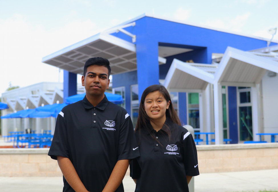 FAU High School seniors Mohammed Khan and Sydney Yu were named National Merit Semifinalists.